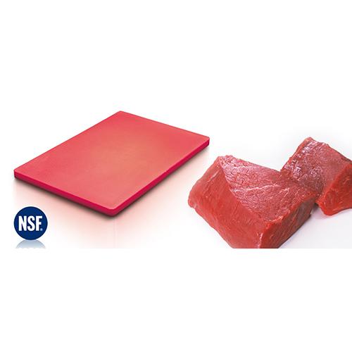 Chopping Board HDPE NSF Certified 32.5 x 53 x 2cm_Red