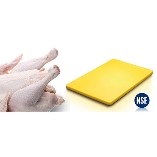 Chopping Board HDPE NSF Certified 12 x 18 x 1 Yellow