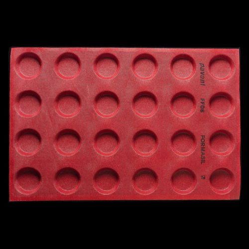 Pavoni FORMASIL micro perforated silicone mould 600×400 FF08 ROUND 57
