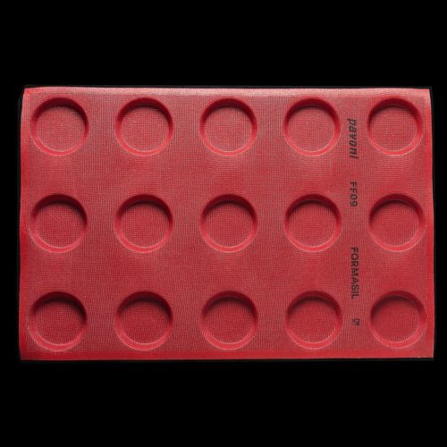 Pavoni FORMASIL micro perforated silicone mould 600×400 FF09 ROUND 88
