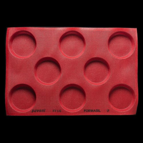 Pavoni FORMASIL micro perforated silicone mould 600×400 FF10 ROUND 332