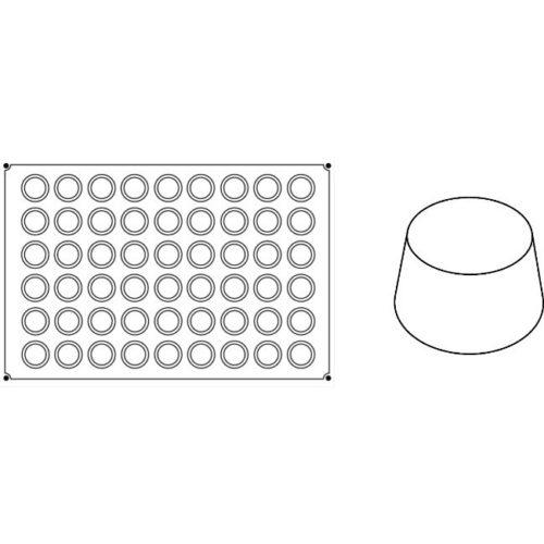 Pavoni Pavoflex silicone mould 600x400 PX005 MINI MUFFIN 45
