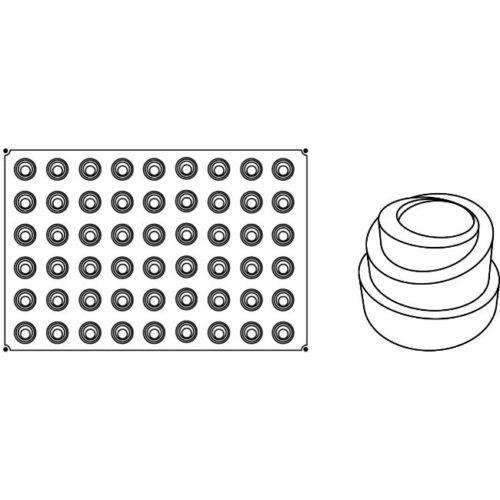 Pavoni Pavoflex silicone mould 600x400 PX011 BABELE MIGNON 25