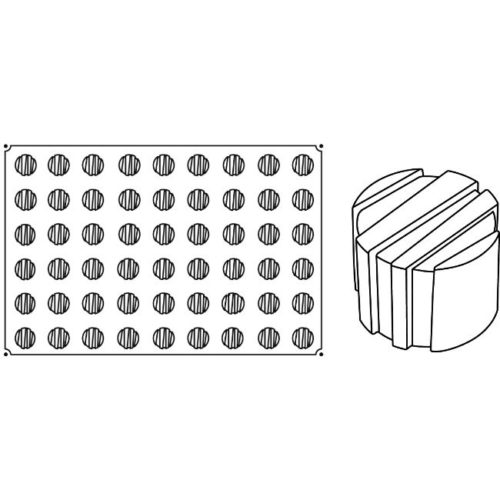 Pavoni Pavoflex silicone mould 600x400 PX020 ROGO MIGNON 25