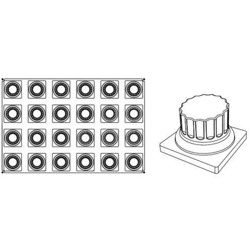 Pavoni Pavoflex silicone mould 600x400 PX041 CAESAR 130