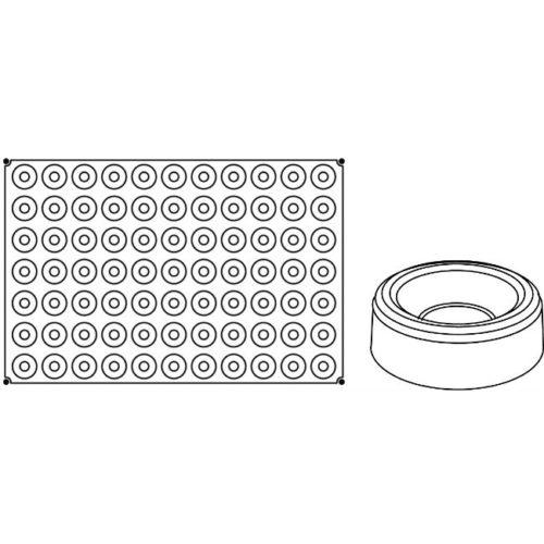 Pavoni Pavoflex silicone mould 600x400 PX045 SAVARIN MIGNON 13