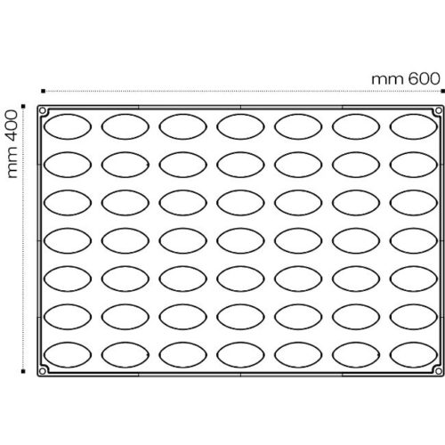 Pavoni 3D Pavoflex silicone mould 600x400 PX071 QUENELLE 32