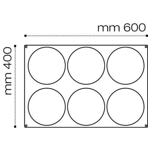 Pavoni Pavoflex silicone mould 600x400 PX075 INSERT 180