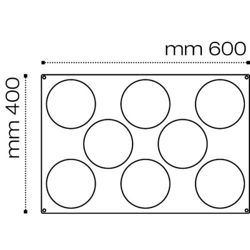 Pavoni Pavoflex silicone mould 600x400 PX076 INSERT 140