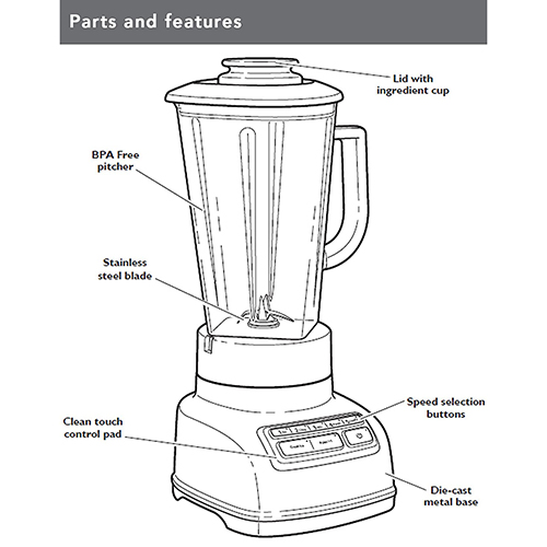 KitchenAid 5-Speed Stand Blender Cobalt Blue (5KSB1585DBU)