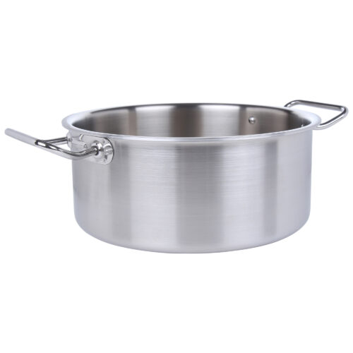 Avon Stainless Steel Medium Height Casserole Tri Ply Induction Compatible