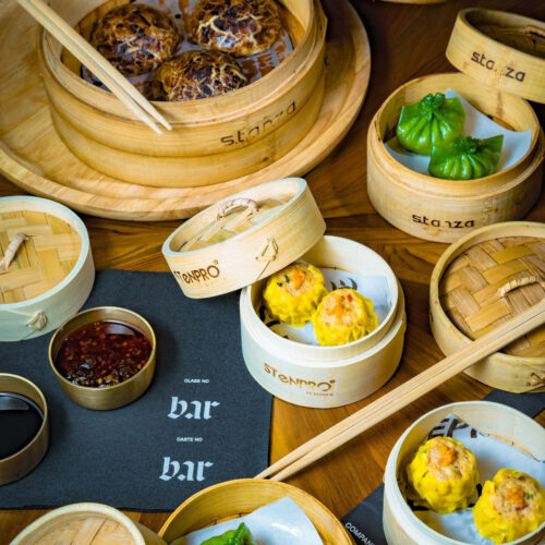 Bamboo Round Dim Sum Basket With Cover