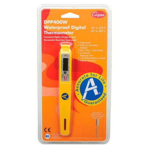 Cooper Digital Pocket Test Thermometer Waterproof DPP400W