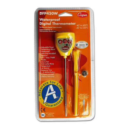 Cooper Digital Pocket Test Thermometer with Temperature Alarm DFP450W